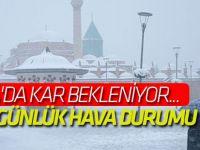 Konya'da kar bekleniyor...