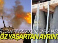 PKK/PYD'li teröristler Afrin'de o bombalarla vuruluyor...