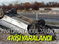 Beyşehir'de otomobil devrildi: 4 yaralı