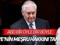Tillerson: Türkiye'nin meşru hakkını takdir ediyor ve tanıyoruz