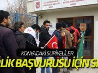 Konya'da Suriyeliler askerlik başvurusu yaptı
