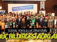 'Sosyal Yoksulluk Zirvesi'nin sonuç bildirgesi açıklandı