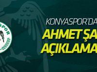 Atiker Konyaspor'dan Ahmet Şan açıklaması