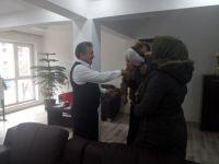 Evi Yanan Palaz Ailesinden Başkan Tutal'a Teşekkür Ziyareti