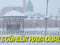 Konya'ya yoğun kar yağışı uyarısı!