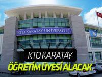 KTO Karatay, öğretim üyesi alacak