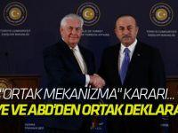 Türkiye ve ABD'den ortak deklarasyon!