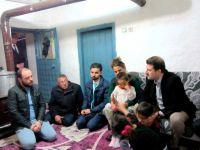Kaymakam Cıdıroğlu , yoksul aileleri ziyaret etti
