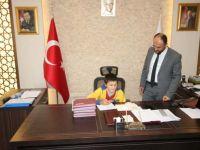 Başkan Özaltun, Toprak'ı makamında ağırladı