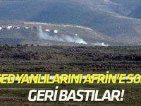 Afrin'e girmeye çalışan terörist gruplar geri çekildi