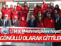 Konya'dan gönüllü sağlıkçılar sınıra uğurlandı
