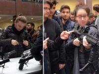 Skandal! Üniversitede çocuklara silah tanıtımı yaptılar...