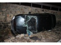 Seydişehir'de otomobil şarampole devrildi: 5 yaralı