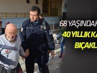 68 yaşındaki adam 40 yıllık karısını bıçakladı