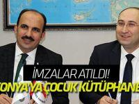 İmzalar atıldı! Konya'ya çocuk kütüphanesi
