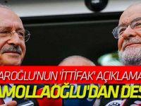Kılıçdaroğlu'nun 'ittifak' açıklamasına Karamollaoğlu'dan destek!