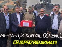 Mehmetçik Konyalı öğrencileri cevapsız bırakmadı