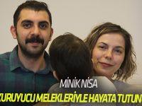 Minik Nisa, koruyucu melekleriyle hayata tutunuyor