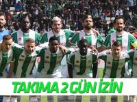 Konyaspor'a 2 gün izin