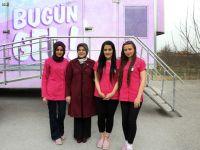 Meram'da pembe tırla kanser taraması