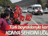 Bitlis şehidi Uzman Çavuş Şükrü Çakar, Konya'da son yolculuğuna uğurlandı