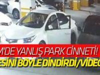AVM'de yanlış park cinneti! Öfkesini böyle dindirdi/VİDEO