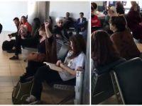 Atatürk Havalimanı'nda sarıklı vatandaşa çirkin saldırı! / VİDEO