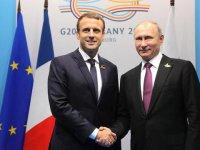 Macron ve Putin telefonda Suriye'yi görüştü
