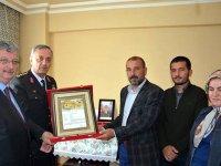 Ereğli'de şehit ailesine şehadet belgesi verildi
