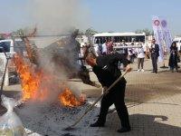 Festival için pişirilmeye çalışılan 200 kiloluk dana alev alev yandı