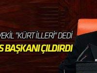"""HDP'li Vekil """"Kürt İlleri"""" Dedi, Meclis Başkanı Çıldırdı: Sizi Dışarı Atarım"""