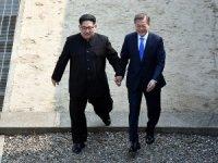 Kim-Moon görüştü! Tarihi buluşma