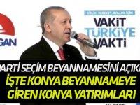 AK Parti seçim beyannamesini açıkladı: İŞTE KONYA YATIRIMLARI