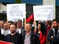 TRT çalışanlarından protesto eylemi!