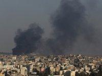 İşgalci İsrail'den Gazze'ye hava saldırısı...