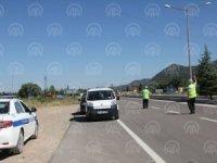 Seydişehir-Antalya karayolunda trafik yoğunluğu