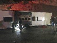 Karaman'da yolcu otobüsü devrildi: 3 ölü, 20 yaralı