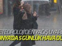 Meteoroloji'den Konya'ya uyarı!  Yağışlar sürecek