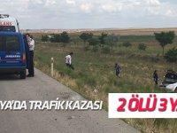 Konya'da trafik kazası: 2 ölü, 3 yaralı