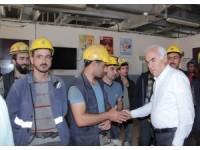 AK Parti Ankara Milletvekili Ceylan'dan santral ziyareti
