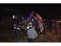 GÜNCELLEME - Aydın'da yolcu otobüsü devrildi