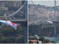 15 Temmuz Köprüsü'ne Akşener bayrağı asıldı! İllegal seçim çalışması...