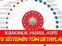16 bakanlık, 9 kurul, 4 ofis İşte Erdoğan'ın açıkladığı sistemin tüm detayları!
