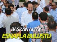 Başkan Altay BÜSAN Sanayi Camii'nde esnafla buluştu