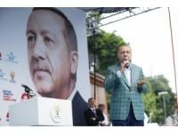 Cumhurbaşkanı Erdoğan, Eyüpsultan'da halka seslendi