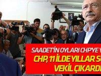 Saadet'in oyları CHP'ye yaradı... CHP, 11 ilde yıllar sonra vekil çıkardı