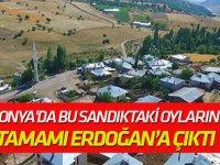 Bu sandıktaki oyların tamamı Erdoğan'a çıktı