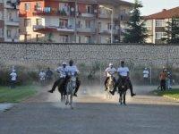 """Akşehir'de """"eşek"""" yarışları ilgiyle izlendi"""