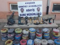 Kırşehir'de hastane inşaatından hırsızlık