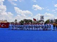 Hokey Milli Takımından 15 Temmuz pankartı